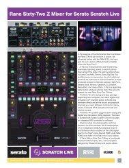 Sixty-Two Z Mixer Data Sheet - Rane Corporation