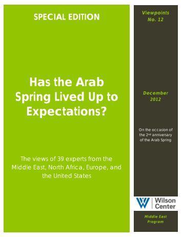 the arab spring essay