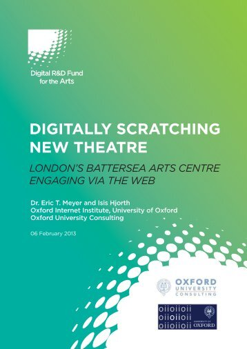Digitally Scratching New Theatre: London's Battersea Arts Centre