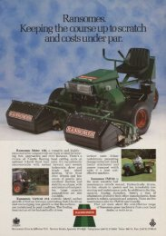 Ransomes. eping the course up to scratch and costs under par.