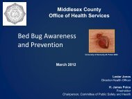 Bed Bug Awareness and Prevention - Middlesex County
