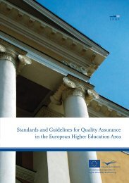 Standards and Guidelines for Quality Assurance in the ... - ENQA