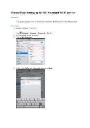 iPhone/iPad: Setting up for BU-Standard Wi-Fi service - ITO