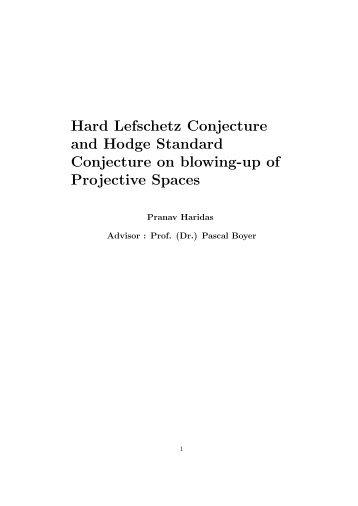 Hard Lefschetz Conjecture and Hodge Standard Conjecture ... - algant