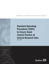 Standard Operating Procedures (SOPs) to Ensure Good Clinical ...