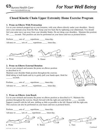 closed chain knee exercises pdf