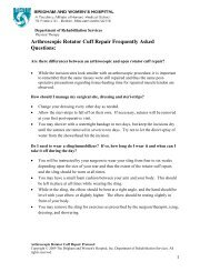 Arthroscopic Rotator Cuff Repair Frequently Asked Questions: