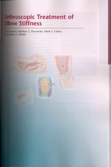 Elbow - Arthroscopic Treatment of Elbow Stiffness - OrthoDoc@aaos ...