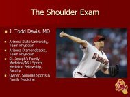 The Shoulder Exam