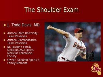 The Shoulder Exam