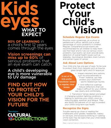 Kids Eyes brochure - Healthy Sight For Life Fund