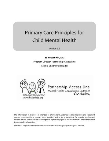 Primary Care Principles for Child Mental Health - Partnership ...
