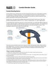 Conduit Bending Basics (Iron - Klein Tools