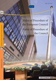 Rules of Procedure of the European Council Rules of ... - Europa