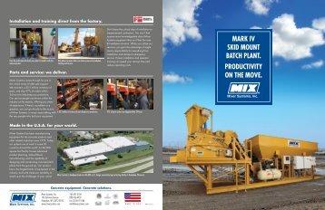 Mark IV Skid Mount Batch Plant Brochure - Mixer Systems, Inc.