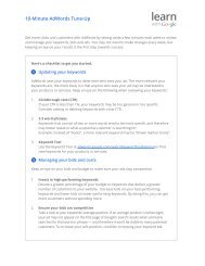 10-Minute AdWords Tune-Up - Gstatic