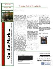 December 2012 Newsletter - St. Mark's Lutheran Church   Oakland ...