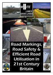 White Lines Saves Lives - Road Safety Markings Association
