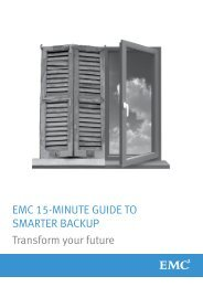 EMC 15-Minute Guide to Smarter Backup - Transform your future