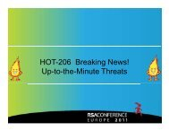 HOT-206 Breaking News! Up-to-the-Minute Threats - RSA Conference