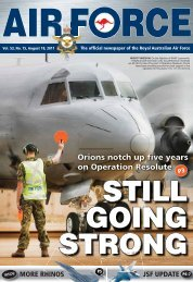 Orions notch up five years on Operation Resolute - Department of ...