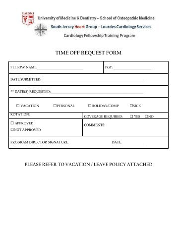Time Off Request Form - Boys & Girls Clubs Of The Peninsula