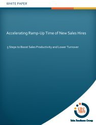 Accelerating Ramp-Up Time of New Sales Hires - TrainingIndustry ...