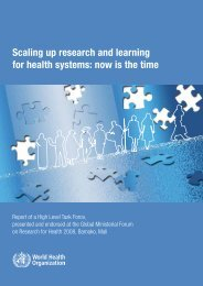 Scaling up research and learning for health systems: now is the time