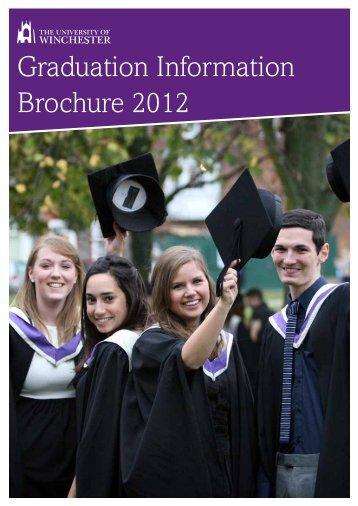 Graduation Information Brochure 2012 - University of Winchester