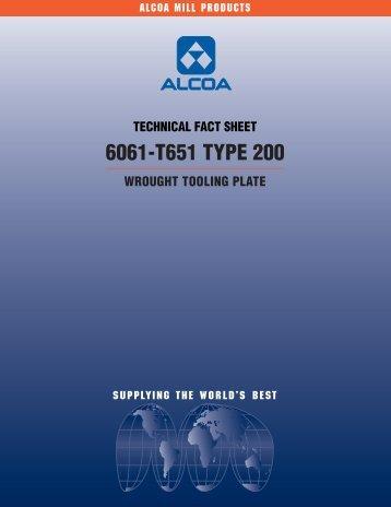 6061-T651 TYPE 200 - Alcoa