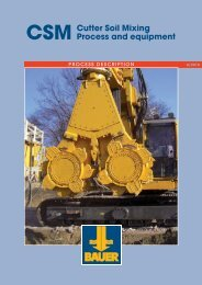 Cutter Soil Mixing Process and equipment - BAUER-Pileco