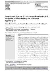 Long-term follow-up of children undergoing topical intranasal steroid ...