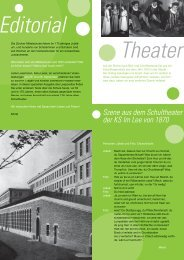 Schule vor 60 Jahren - Kantonsschule im Lee Winterthur