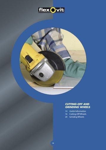Flexovit Merchandising Catalogue: Cutting-Off and Grinding Wheels
