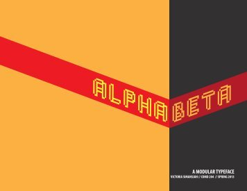 Alphabeta: A Modular Typeface – Process Book
