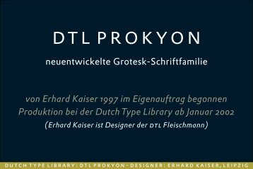 DTL Prokyon Presentation - Dutch Type Library