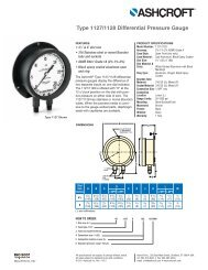 Type 1127/1128 Differential Pressure Gauge - Ashcroft
