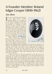 A Founder Member: Roland Edgar Cooper (1890-1962)
