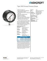 Type 1259 Process Pressure Gauge - Ashcroft