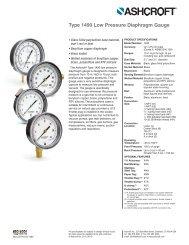 Type 1490 Low Pressure Diaphragm Gauge - Instrumart