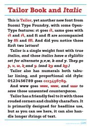 This is Tailor, yet another new font from Suomi Type Foundry ... - T-26