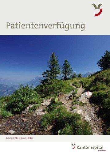 Link zum Ausfüllen oder Ausdrucken der Patientenverfügung.