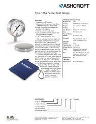 Type 1084 Pocket Test Gauge Data Sheet, TG - Ashcroft