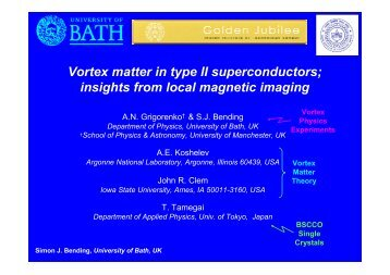 Vortex matter in type II superconductors; insights from ... - iitk.ac.in