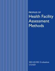 Health Facility Assessment Methods - Global HIV M&E Information
