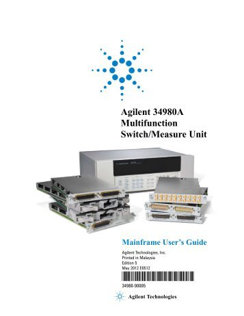 Agilent 34980A  Multifunction Switch/Measure Unit *34980-90005*