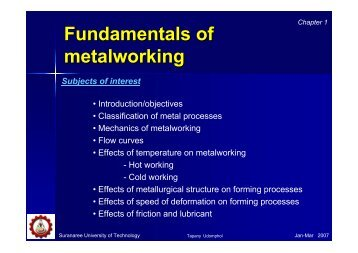 The Fundamentals of Metalworking (PDF)