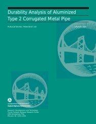 Durability Analysis of Aluminized Type 2 Corrugated Metal Pipe ...