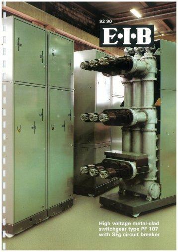 High voltage metal-clad switchgear type PF 107 with ... - Schneider