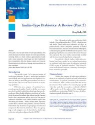 Inulin-Type Prebiotics: A Review (Part 2) - Alternative Medicine ...